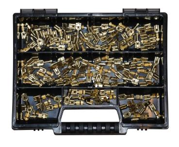 Flachstecker 2,8x0,8 Set Flachsteckhülsen 6,3x0,8 n 4,8x0,8 DIN 190 Teile