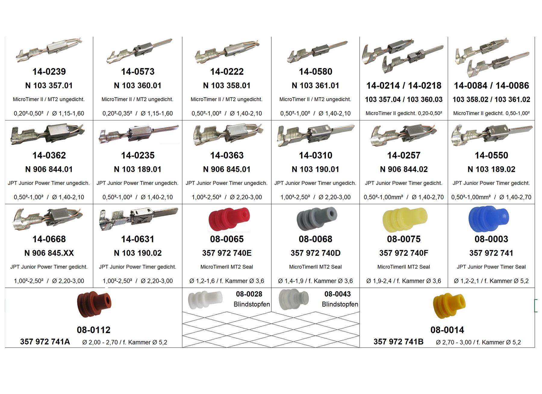 10x JPT Junior Power Timer Buchse Kontakt 1,50²-2,50² VW N 906 845.01 906845.01
