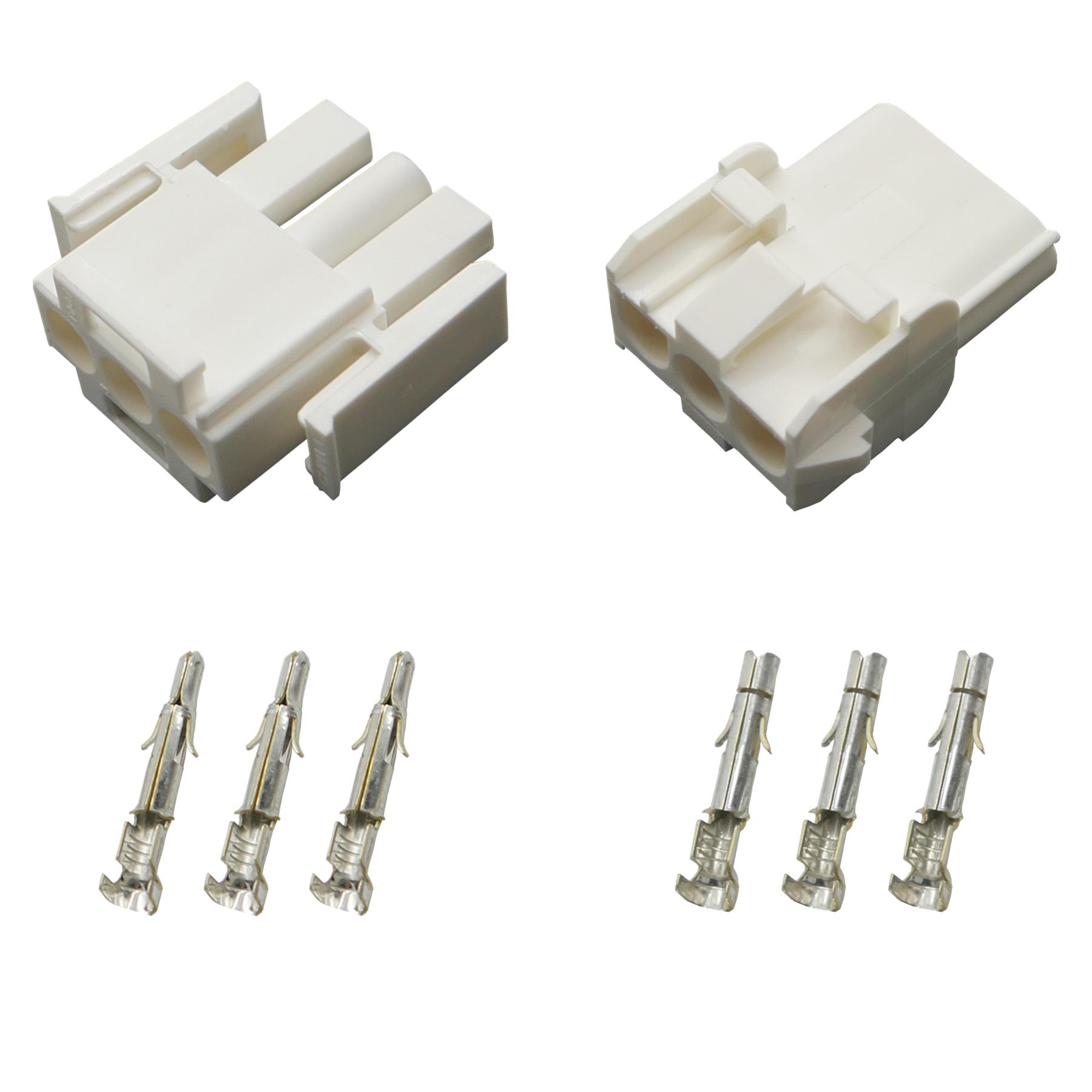 Kontakten Stecker Set Steckverbinder Universal Mate N Lok 3-polig incl