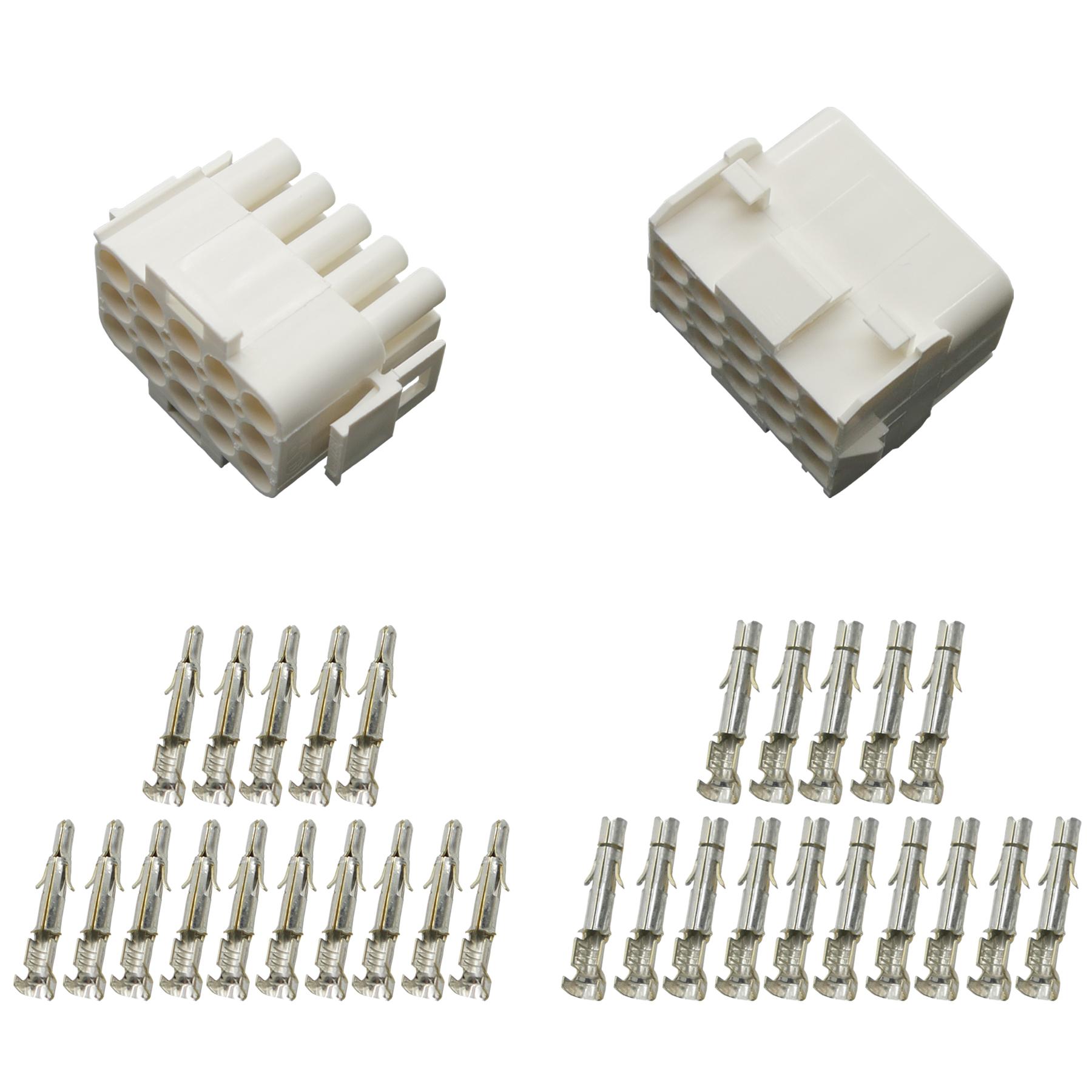 Stecker Set Steckverbinder Universal Mate N Lok 4-polig incl Kontakten