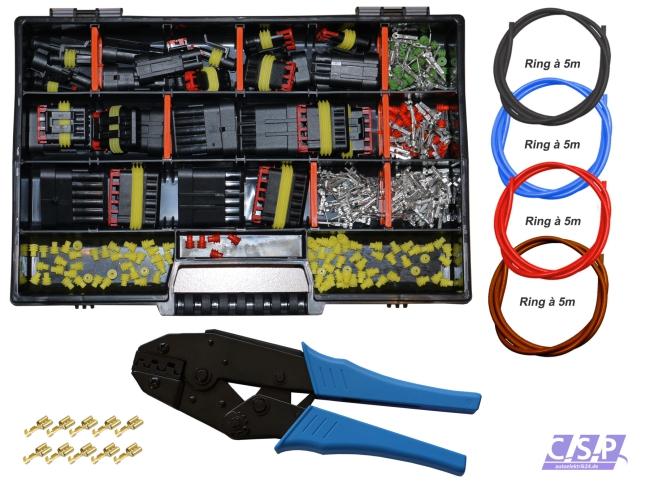 AMP Superseal Stecker Stift 3-polig 0,50² konfektioniert Kabel Elektrik KFZ LKW