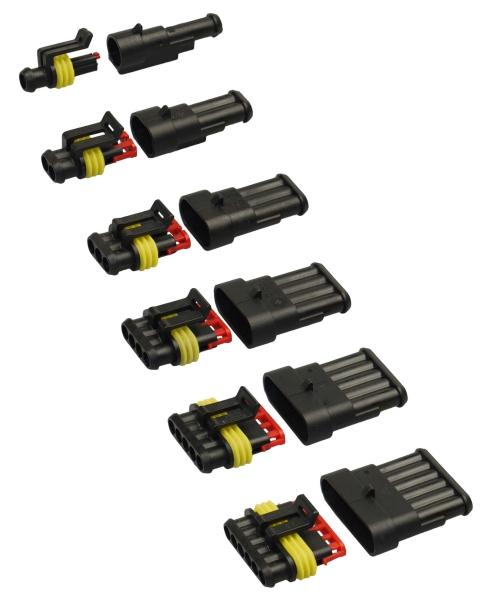 Leitungen FLRY 1,50 Schrumpfschlauch Kabelbinder u m AMP Superseal Set 6-pol